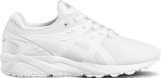asics all white