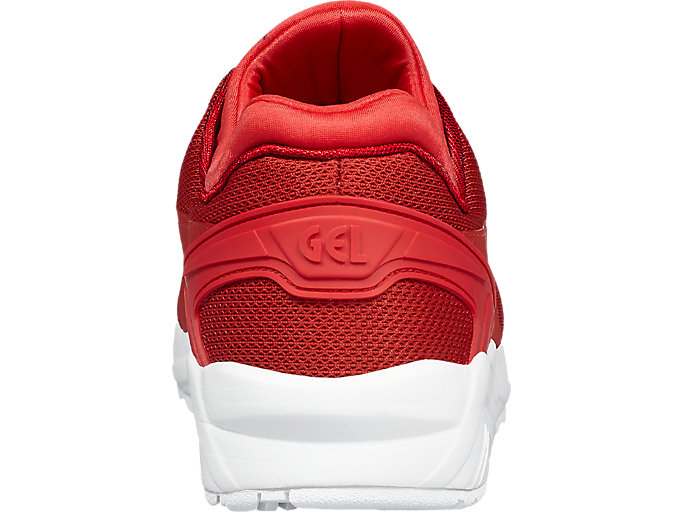 Back view of GEL-KAYANO TRAINER EVO, TRUE RED/TRUE RED