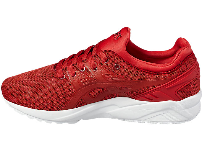 Left side view of GEL-KAYANO TRAINER EVO, TRUE RED/TRUE RED