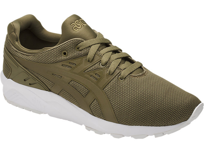 Front Right view of GEL-KAYANO TRAINER EVO, MARTINI OLIVE/MARTINI OLIVE