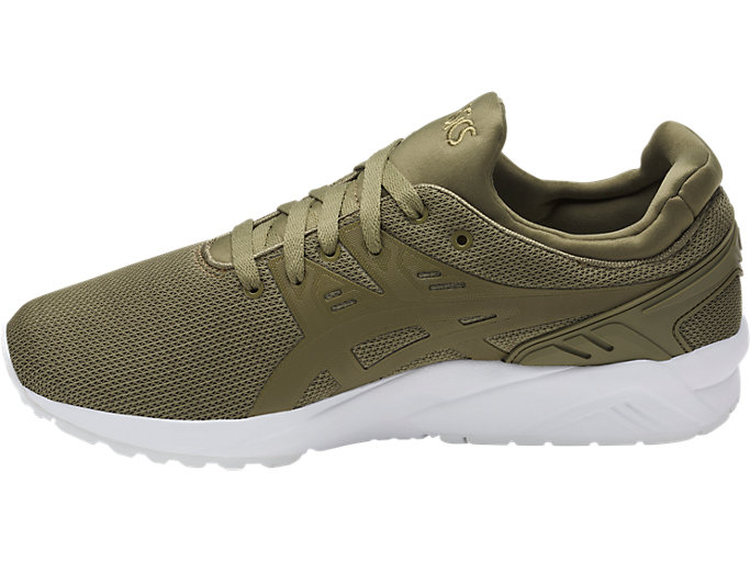 Left side view of GEL-KAYANO TRAINER EVO, MARTINI OLIVE/MARTINI OLIVE