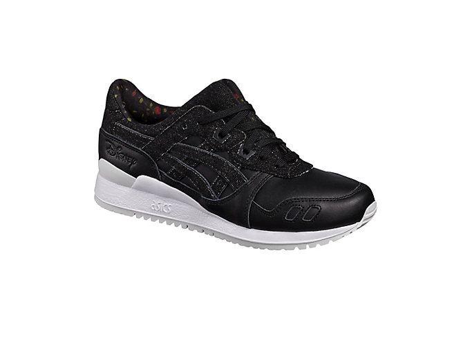 Front Right view of DISNEY GEL-LYTE III, BLACK/BLACK