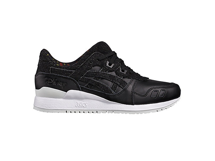 Right side view of DISNEY GEL-LYTE III, BLACK/BLACK