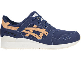 Right side view of GEL-LYTE III, INDIGO BLUE/TAN