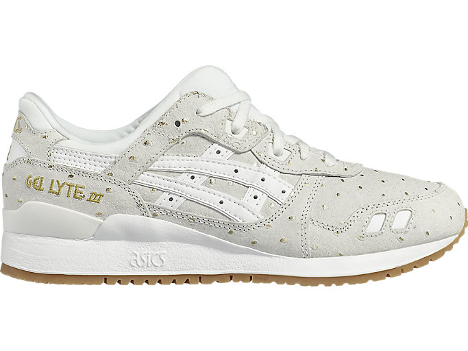Right side view of GEL-LYTE III, WHITE/WHITE
