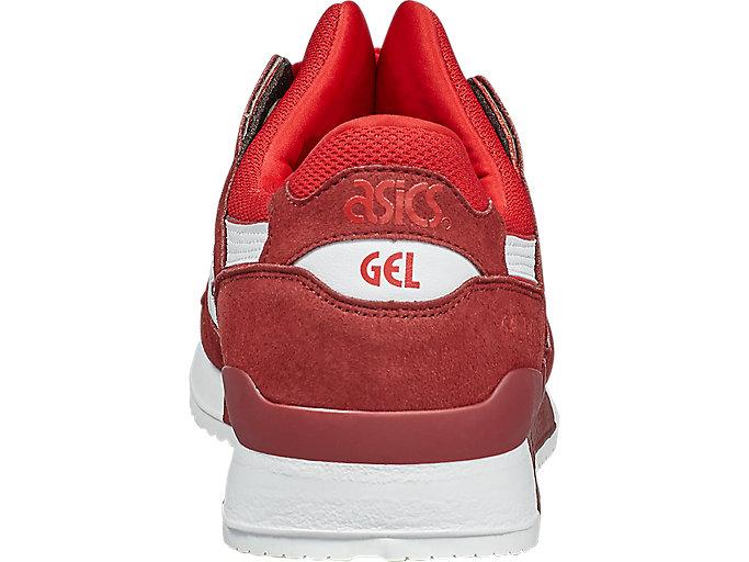 Back view of GEL-LYTE III, TRUE RED/WHITE