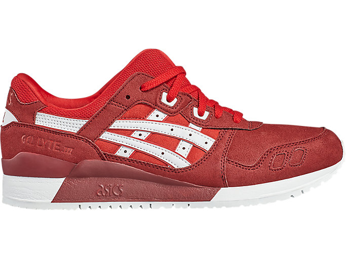 Right side view of GEL-LYTE III, TRUE RED/WHITE