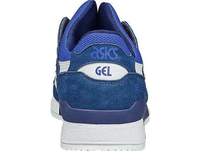 Back view of GEL-LYTE III, ASICS BLUE/WHITE