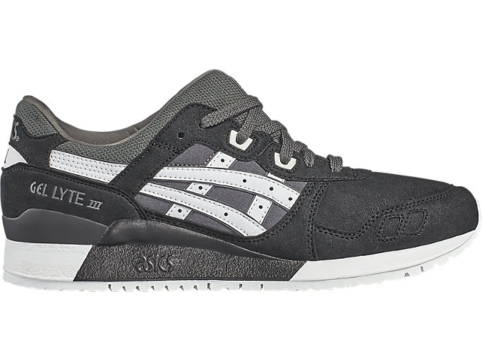 Right side view of GEL-LYTE III, DARK GREY/WHITE