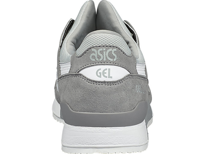 Back view of GEL-LYTE III, ALUMINUM/WHITE