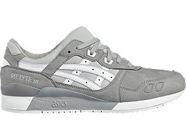 Right side view of GEL-LYTE III, ALUMINUM/WHITE
