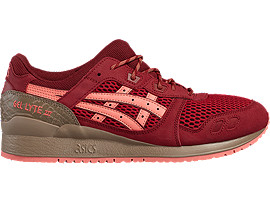 Right side view of GEL-LYTE III, OT RED/OT RED