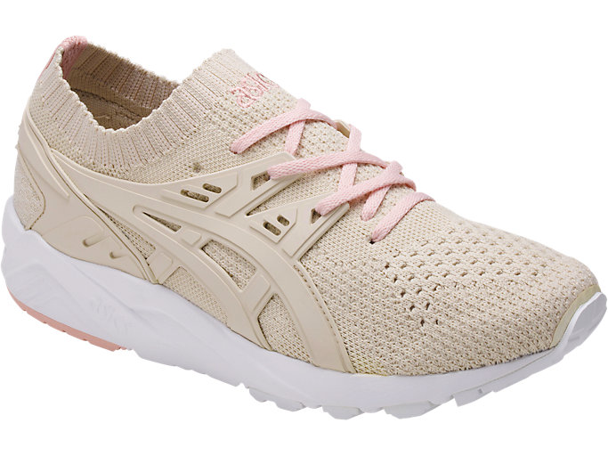Front Right view of GEL-KAYANO TRAINER KNIT, BIRCH/BIRCH