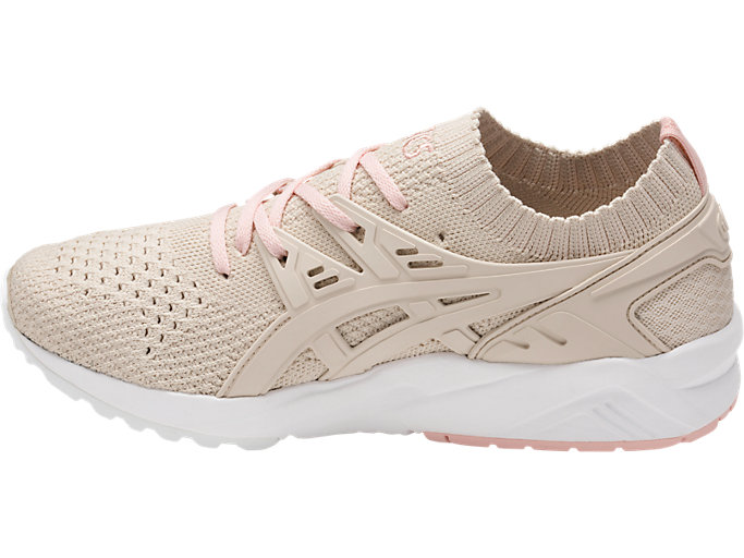 Left side view of GEL-KAYANO TRAINER KNIT, BIRCH/BIRCH