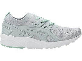 Right side view of GEL-KAYANO TRAINER KNIT, Gossamer Green/Gossamer Green