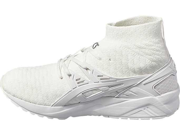 Left side view of GEL- KAYANO TRAINER KNIT MT, WHITE/WHITE