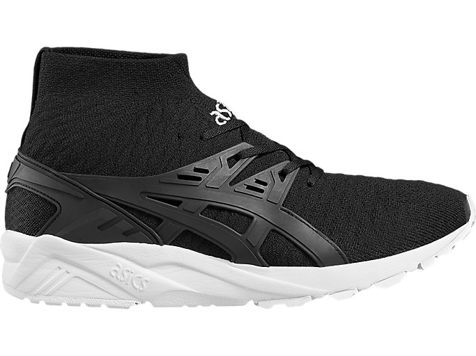 Right side view of GEL-KAYANO TR KNIT, BLACK/BLACK