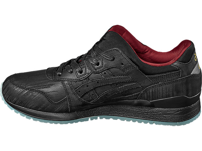 Left side view of GEL-LYTE III, BLACK/BLACK