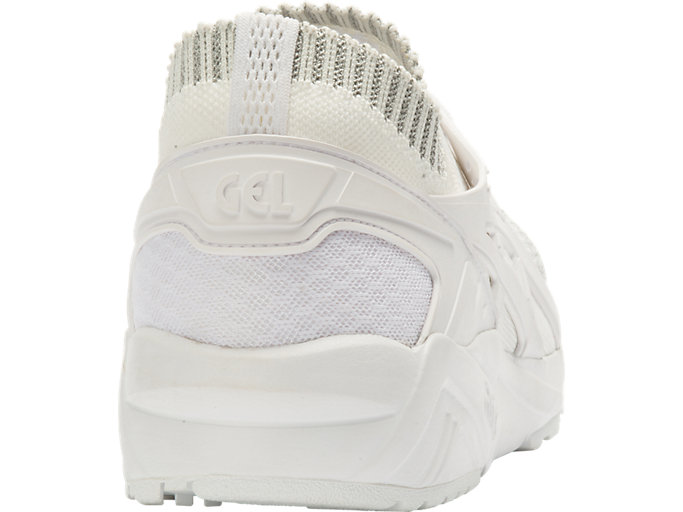 Back view of GEL-KAYANO TRAINER KNIT, SILVER/WHITE