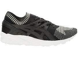 Right side view of GEL-KAYANO TRAINER KNIT, Silver/Black