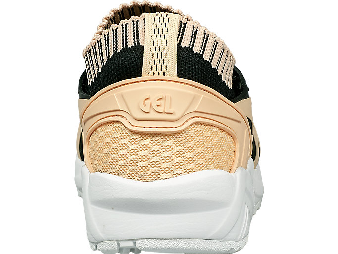 Back view of GEL-KAYANO TRAINER KNIT, BLEACHED APRICOT /BLEACHED APRICOT