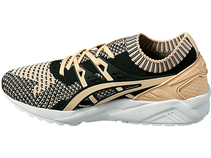 Left side view of GEL-KAYANO TRAINER KNIT, BLEACHED APRICOT /BLEACHED APRICOT