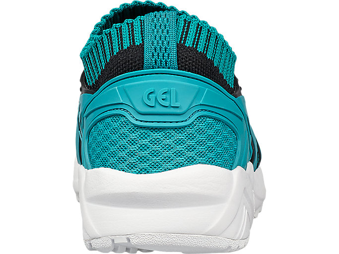 Back view of GEL-KAYANO TRAINER KNIT, VIRIDIAN GREEN /VIRIDIAN GREEN