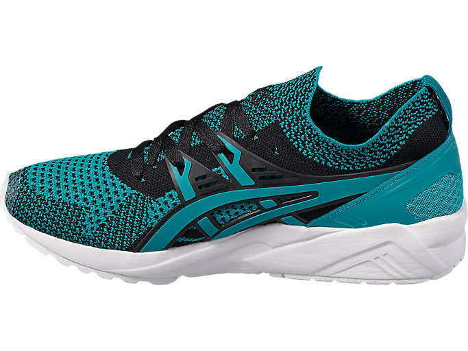 Left side view of GEL-KAYANO TRAINER KNIT, VIRIDIAN GREEN /VIRIDIAN GREEN