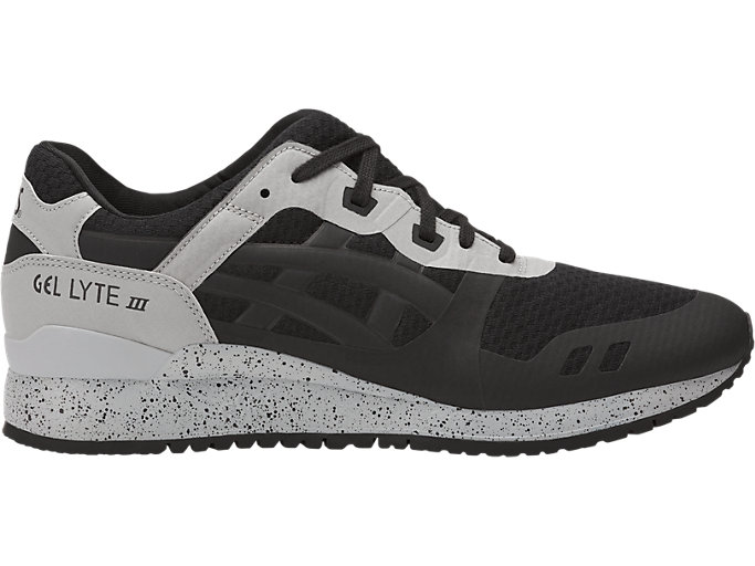Right side view of GEL-LYTE III NS, BLACK/BLACK