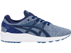 Right side view of GEL-KAYANO TRAINER EVO, PIGEON BLUE/NAVY PEONY