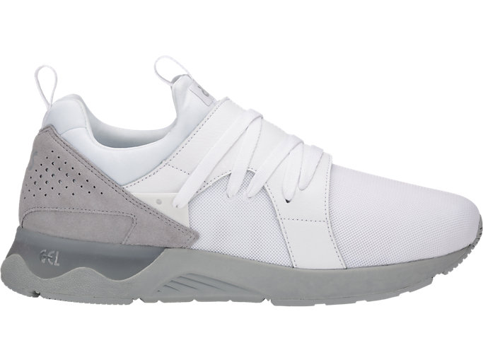 Right side view of GEL-LYTE V SANZE, White/Mid Grey