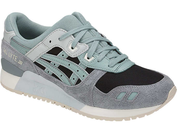 Front Right view of GEL-LYTE III, BLACK/BLUE SURF