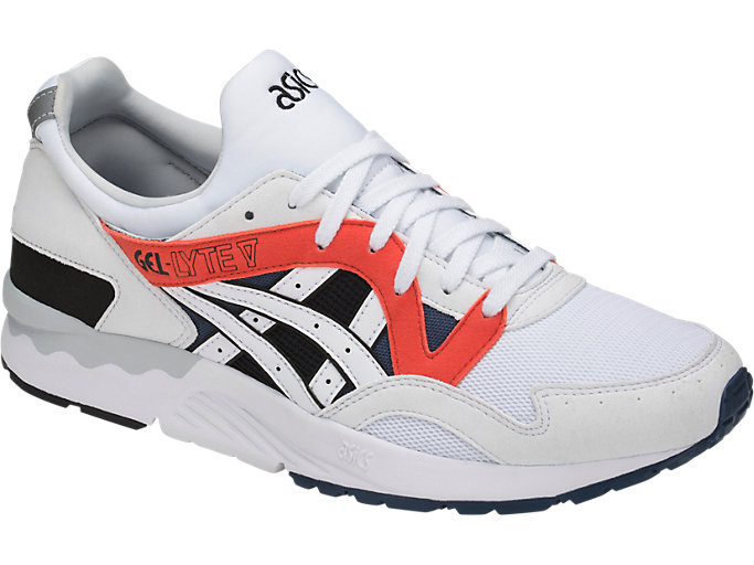 Front Right view of GEL-LYTE V, WHITE/WHITE