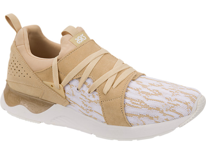 Front Right view of GEL-LYTE V SANZE, White/Marzipan