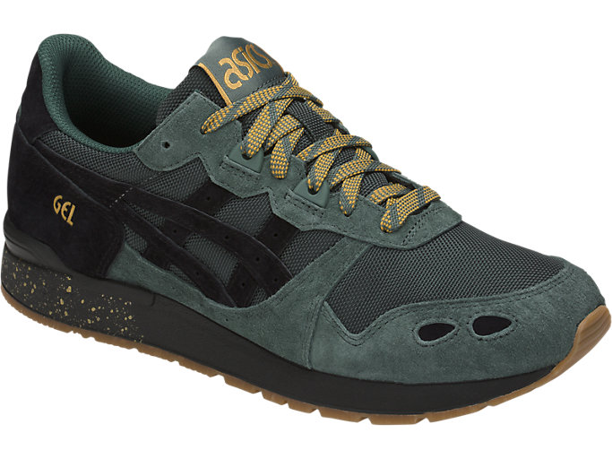 Front Right view of GEL-LYTE, DARK FOREST/BLACK