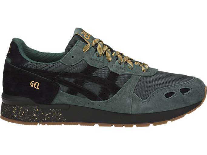 Right side view of GEL-LYTE, DARK FOREST/BLACK