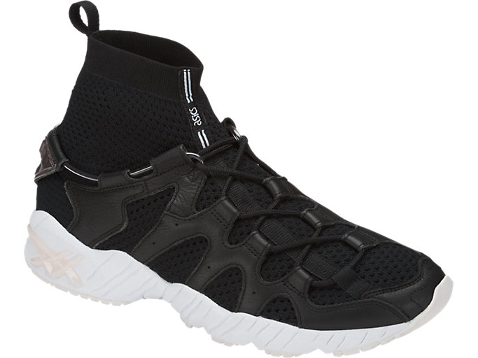 Front Right view of GEL-MAI KNIT MT, BLACK/BLACK