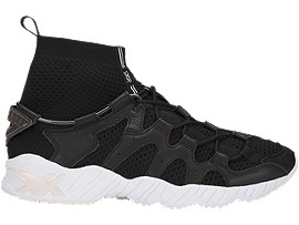 Right side view of GEL-MAI KNIT MT, BLACK/BLACK