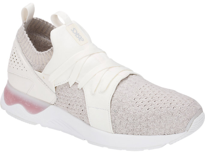 Front Right view of GEL-LYTE V SANZE KNIT, WHITE/WHITE