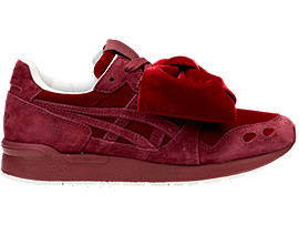Right side view of DISNEY GEL-LYTE, BURGUNDY/BURGUNDY