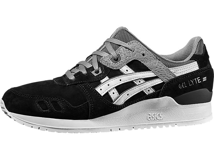 Front Right view of GEL-LYTE III, BLACK/SOFT GREY
