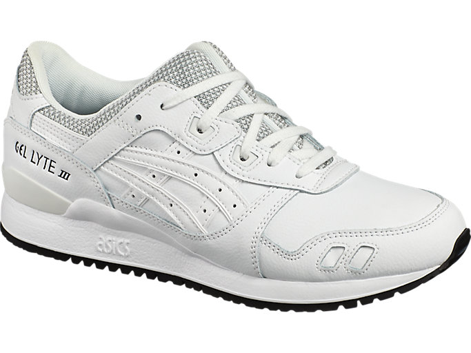 Front Left view of GEL-LYTE III, WHITE/WHITE