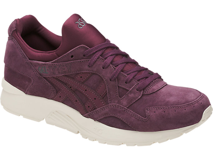Front Right view of GEL-LYTE V, EGGPLANT/EGGPLANT