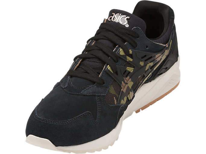Front Left view of GEL-KAYANO TRAINER, BLACK/MARTINI OLIVE