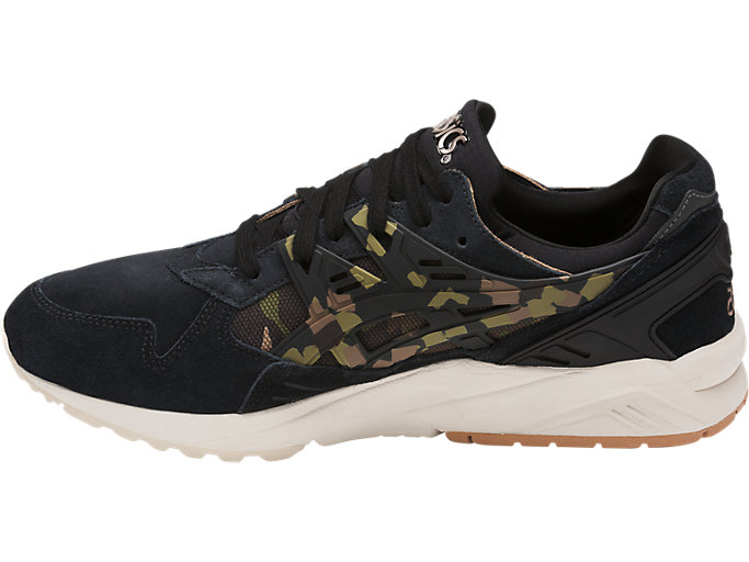Left side view of GEL-KAYANO TRAINER, BLACK/MARTINI OLIVE