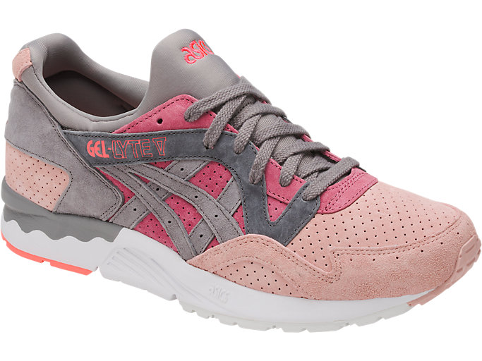 Front Right view of GEL-LYTE V, MAUVE WOOD/ALUMINUM