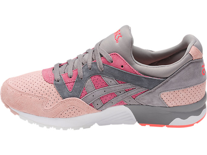 Left side view of GEL-LYTE V, MAUVE WOOD/ALUMINUM