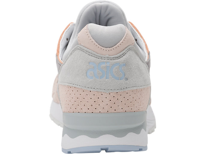 Back view of GEL-LYTE V, APRICOT NECTAR/MID GREY