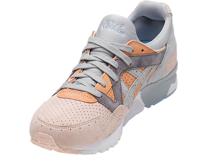 Front Left view of GEL-LYTE V, APRICOT NECTAR/MID GREY