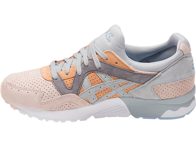 Left side view of GEL-LYTE V, APRICOT NECTAR/MID GREY